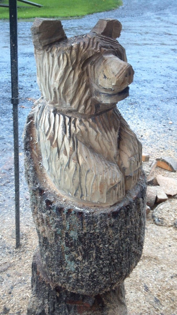 Peewees wood carvings are all carved out of k d white pine