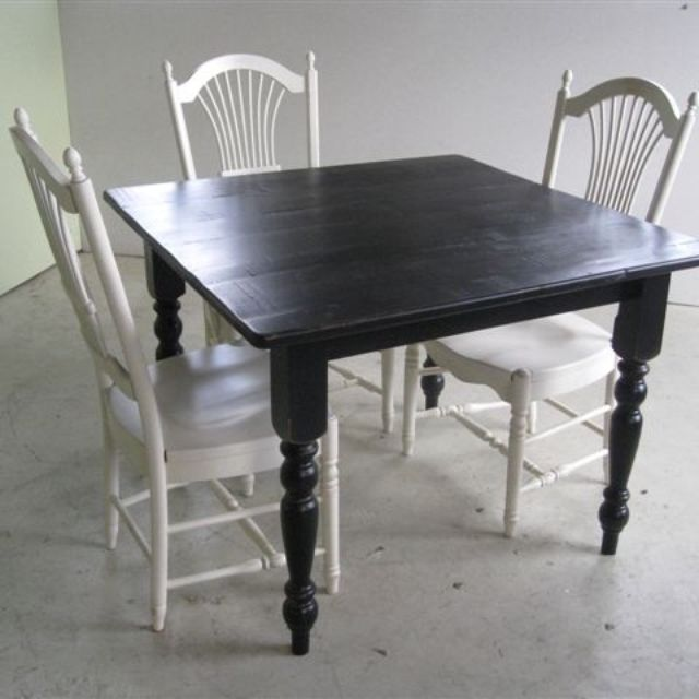 Hand Made Small Square Dining Table For Kitchen Or Room By ECustomFinishes
