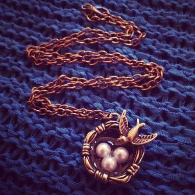 Custom Made Mom Jewelry Bird's Nest Necklace