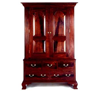 Custom Made Pennsylvania Chippendale Wardrobe