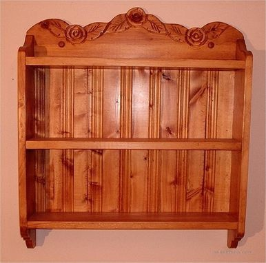 Custom Made Tea Cup Shelf, 6 Cup Teacup Shelf
