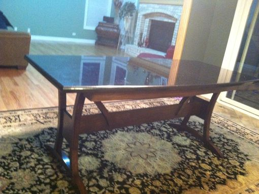 Custom Made Granite Table W/ Oak Base