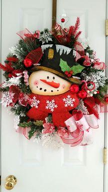 Hand Made Winter Wreaths Christmas Wreaths Snowman Wreaths ...