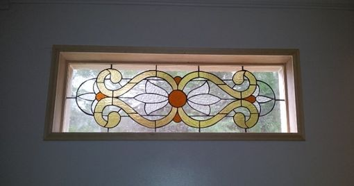 "Custom Made Stained Glass Window / ""Victorian Flowers"" (W-30)"