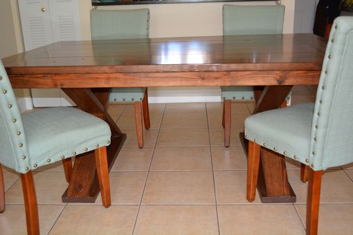 Custom Made Farm Style Dining Room Table Solid Wood