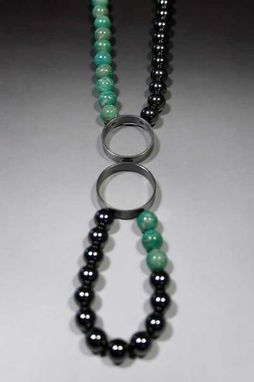 Custom Made Sterling Silver Hoop Necklace With Beads Or Chain