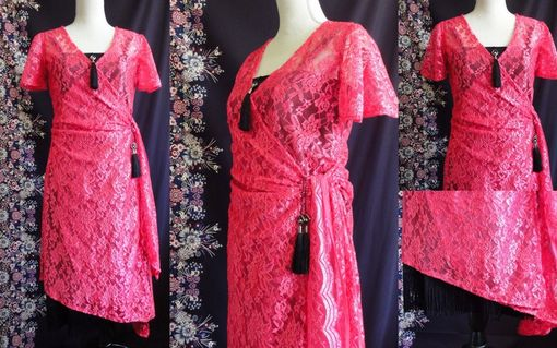 Custom Made 1930s Style Lace Dress With Tassels