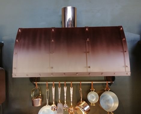 Custom Made Copper Range Hood - Winston C