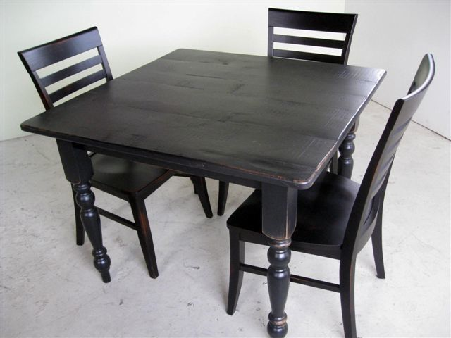 Custom Made 3 Foot Square Kitchen Or Dining Table By Ecustomfinishes Reclaimed Wood Furniture Custommade