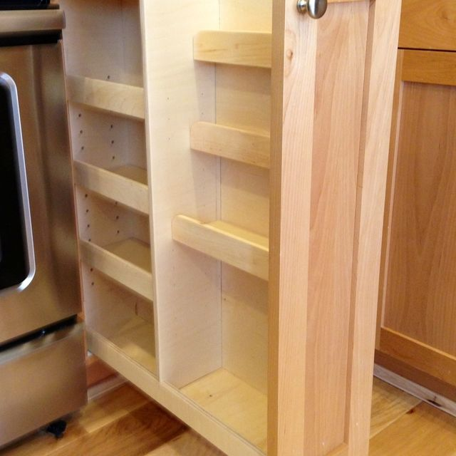 Handmade Pull Out Spice Rack by Noble Brothers Custom Furniture ...