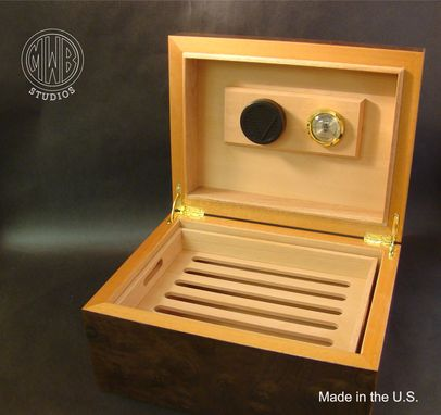 Custom Made Custom Handcrafted Inlaid Humidor With Free Shipping.
