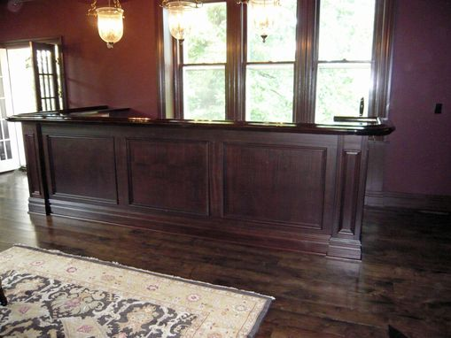 Custom Made Mahogany Home Bar