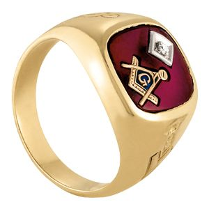 Custom Made Unique Family Crest Coat Of Arms 14k Yellow Gold Ring 1/20 Ct