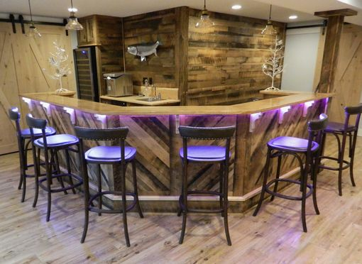 Custom Made Custom Made Reclaimed Barn Board Bar