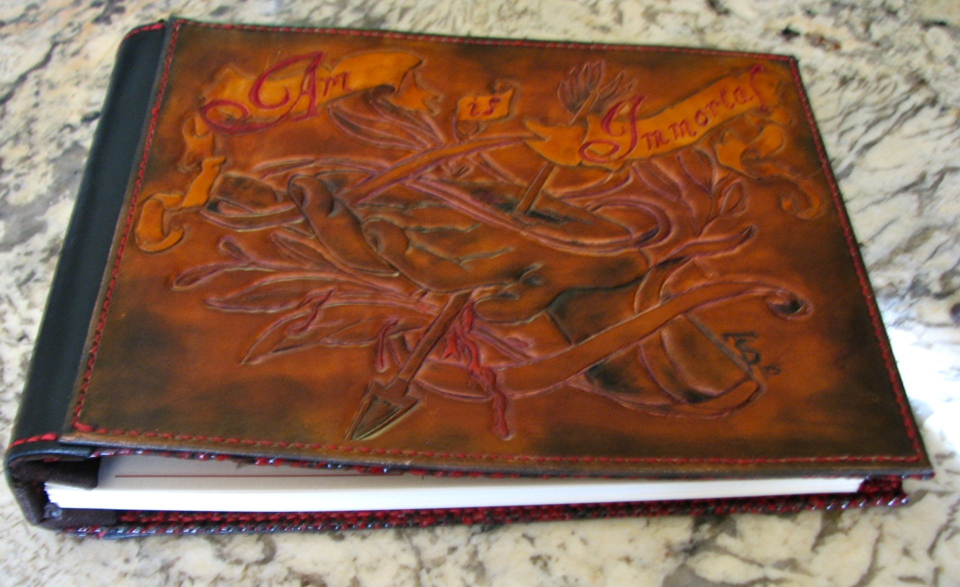 Hand Made Custom Leather Tattoo Artists Portfolio Album by