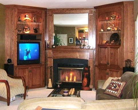Custom Made Built In Fireplace Surround/Library/Shelves