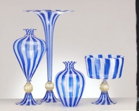 Custom Made Hand-Blown Glass Vases