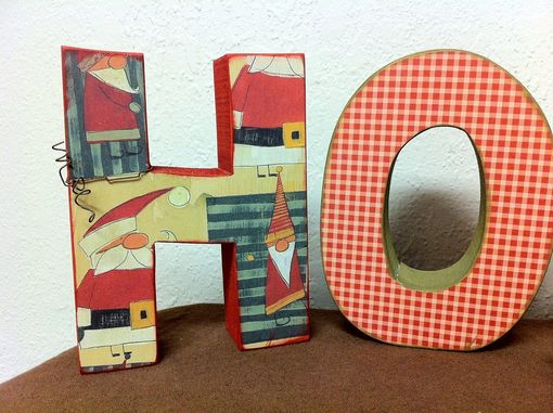 Custom Made Seasonal Ho Ho Ho Wood Letter Set