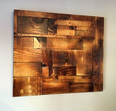 Custom Made Shou Sugi Ban Wood Art Accent Wall Art by Great Lakes ...