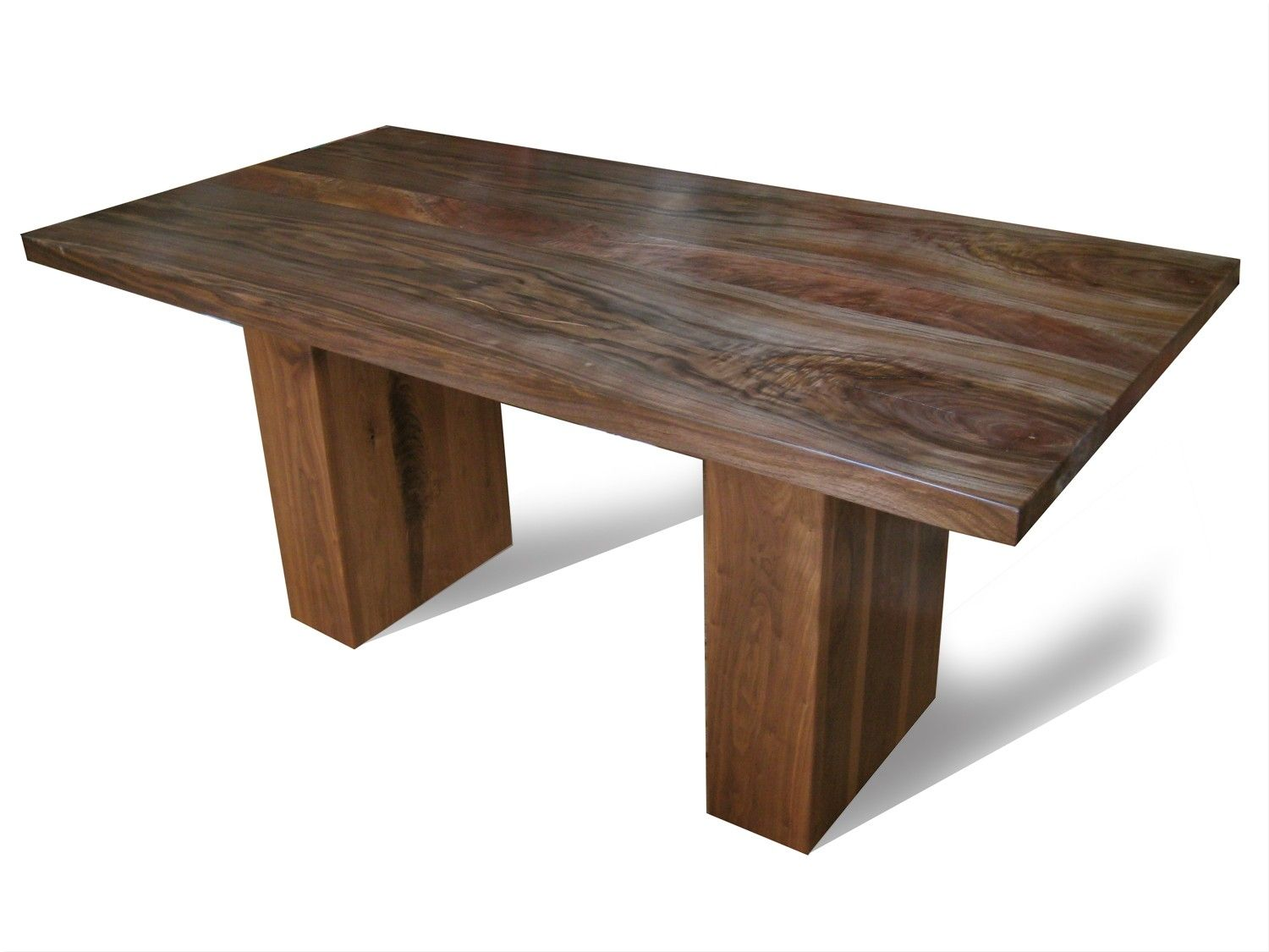 Custom made walnut dining table with pedestal legs by fix studio - Kitchen table bases ...