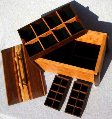 Custom Made 3 Compartment Cherry Jewelry Box
