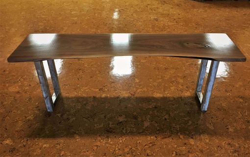 Custom Made Black Walnut Live Edge Console Table