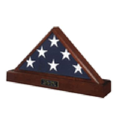 Custom Made Funeral Flag Case, Funeral Flag And Pedestal, Funeral Flag Frame