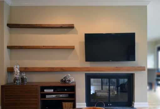 Custom Made Reclaimed Lumber Floating Shelves