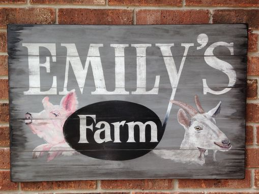 Custom Made Distressed And Rustic Sign