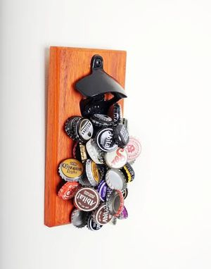 Custom Made Padauk Magnetic Bottle Opener