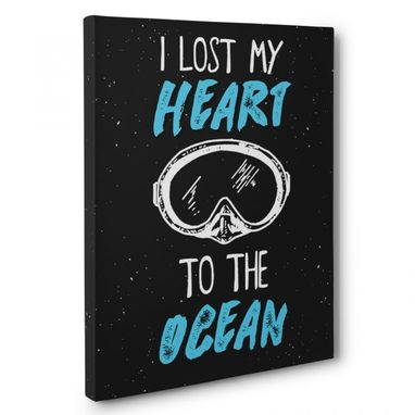 Custom Made I Lost My Heart To The Ocean Canvas Wall Art