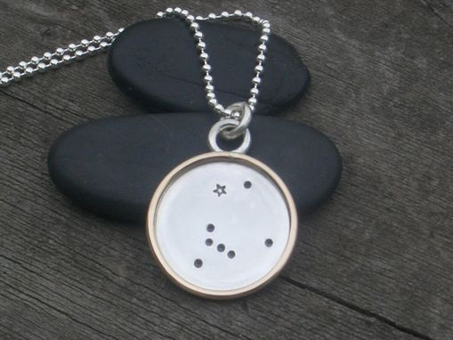 Custom Made Pendant Necklace With Canis Major In Sterling Silver