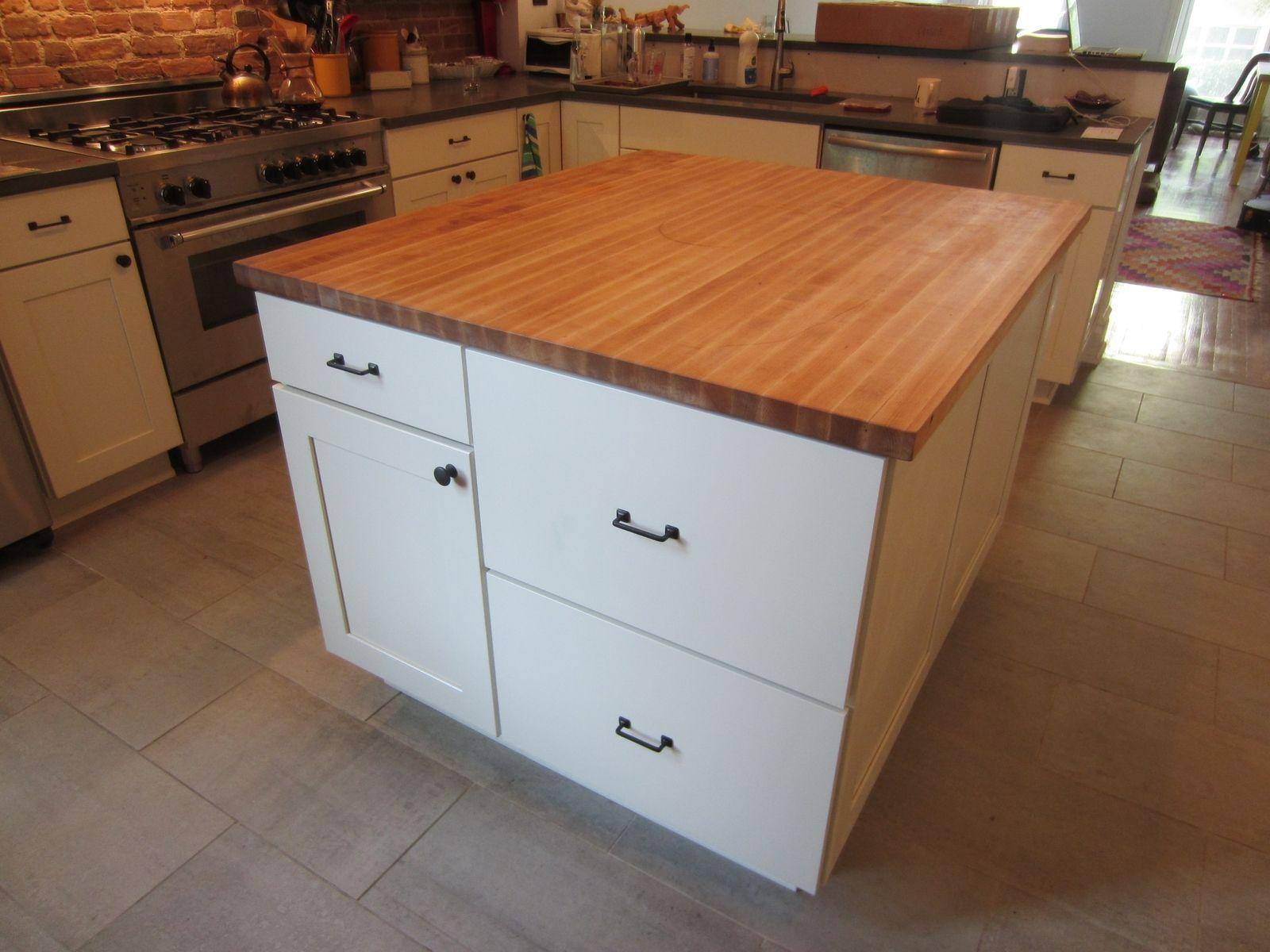 Custom Butcher Block Kitchen Island Top by Elias Custom Furniture ...