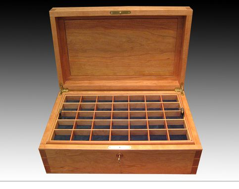 Custom Made Large Jewelry Box Mahogany