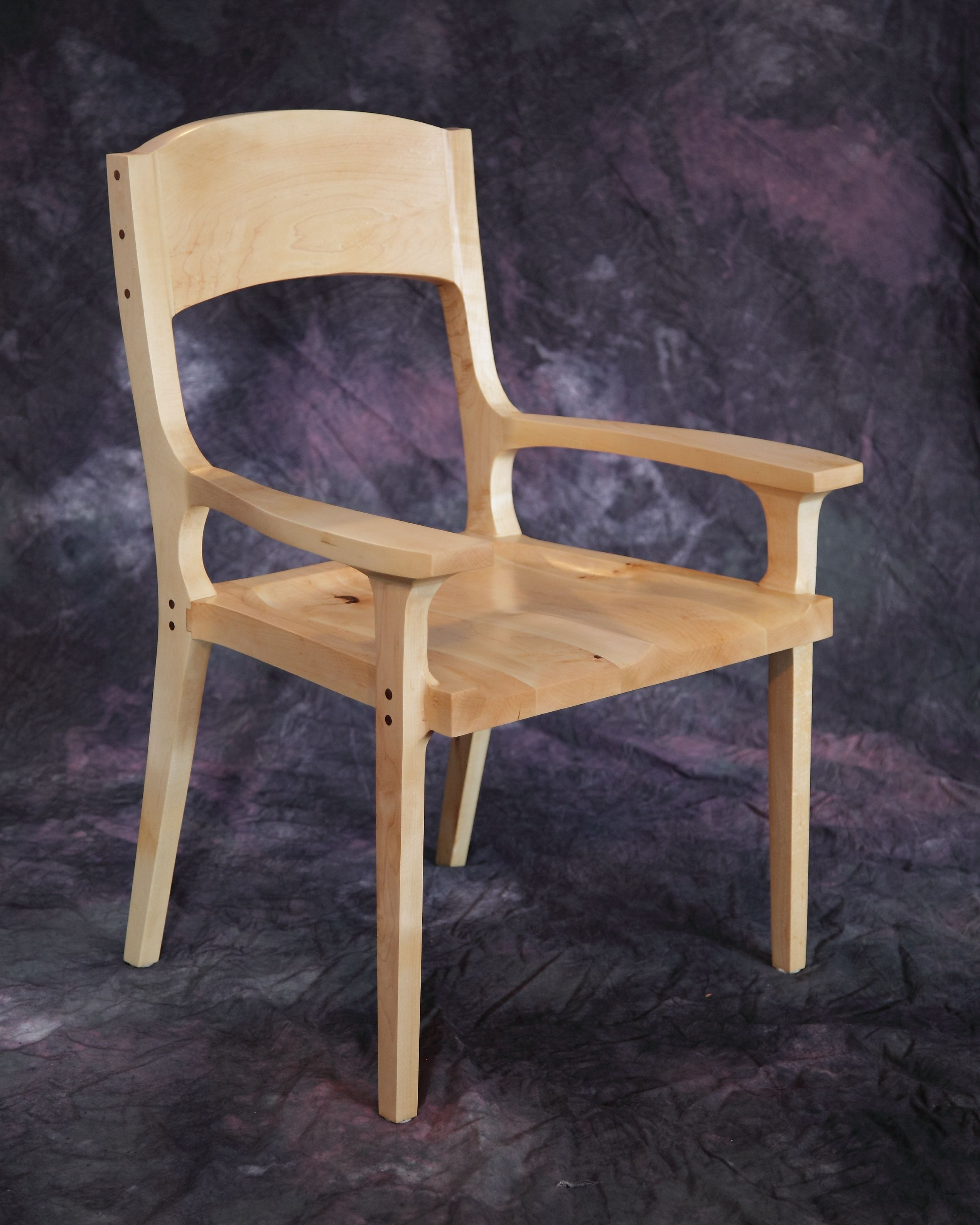 Hand Made Low Back Mid Century Dining Chair By Farm And