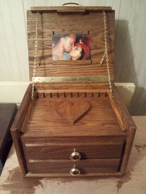 Custom Made Jewelry Box With Shallow Drawers