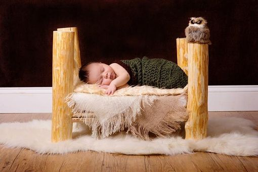 Custom Made Log Bed Baby Prop