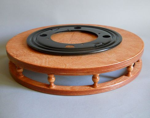Custom Made Lazy Susan With Finials, Tray, Counter Or Table Organizer