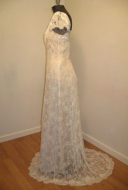 Custom Made Ivory Lace Wedding Dress