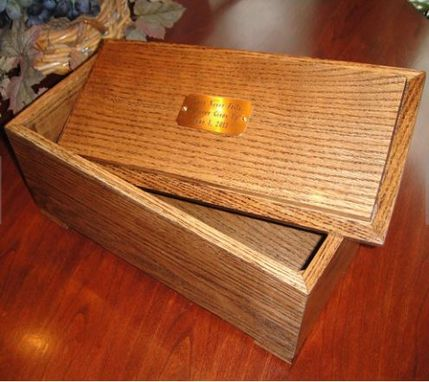 Custom Made Hand Crafted Solid Pine Or Oak Memory Box For Those Precious Moments And Keepsakes