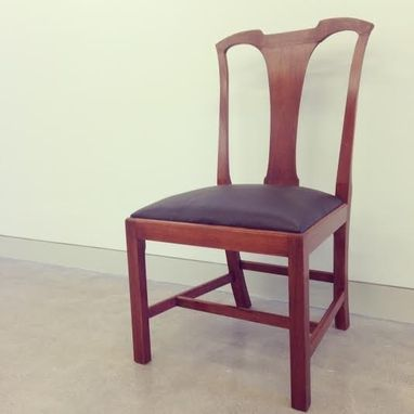 Custom Made Chippendale Chair In Mahogany