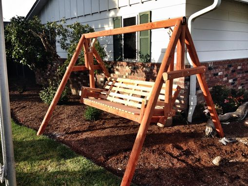 Custom Made Freestanding  Cedar Swing