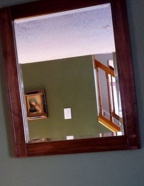 Custom Made Walnut Mirror Mission Style