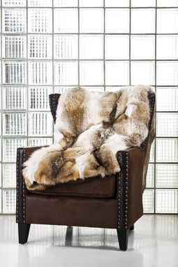 Custom Made Coyote Fur Blanket