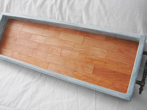 Custom Made Rustic Farmhouse Tile Bottom Coffee Table Tray