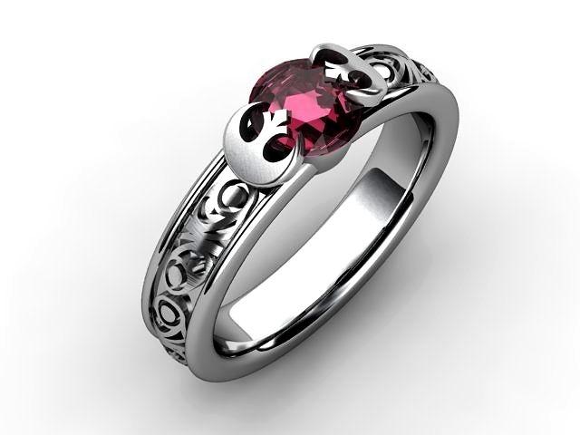 Custom Made Princess Leia Inspired Engagement Ring