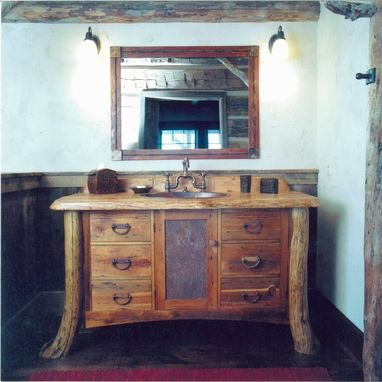Custom Made Montana Rustic Bath Vanity