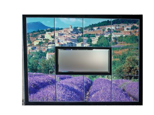 Custom Made Custom Tile Mirror Mural Of Provence