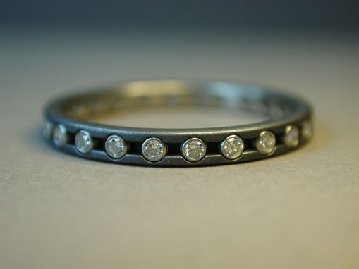 Custom Made Eternity Ring, Titanium And Diamonds