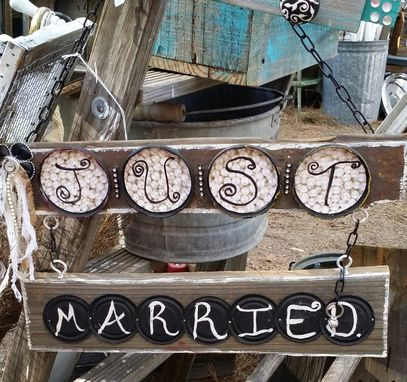 Custom Made Just Married Photo Decor